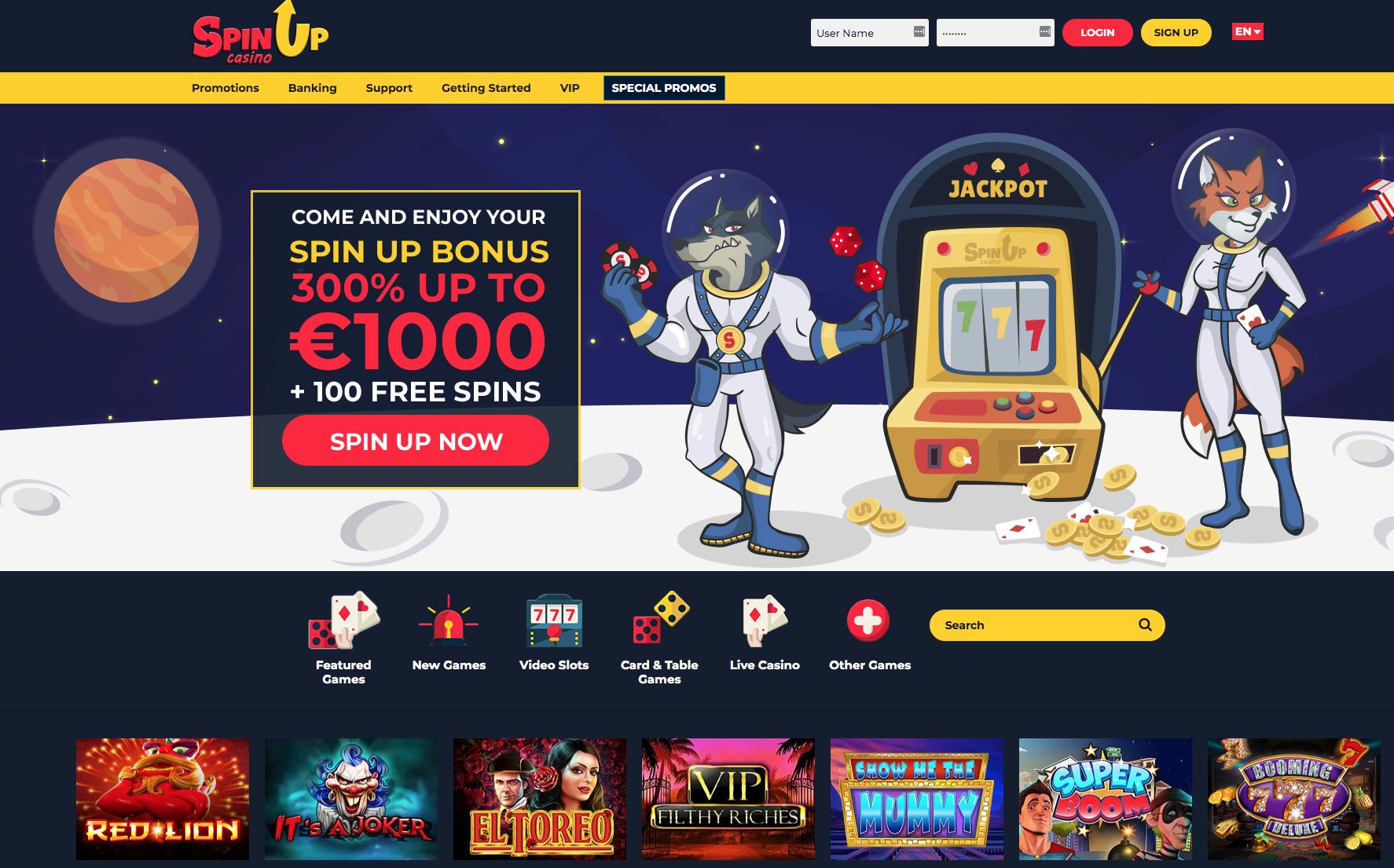 Spinup casino avis : pour vos premiers pas dans le monde de jeu
