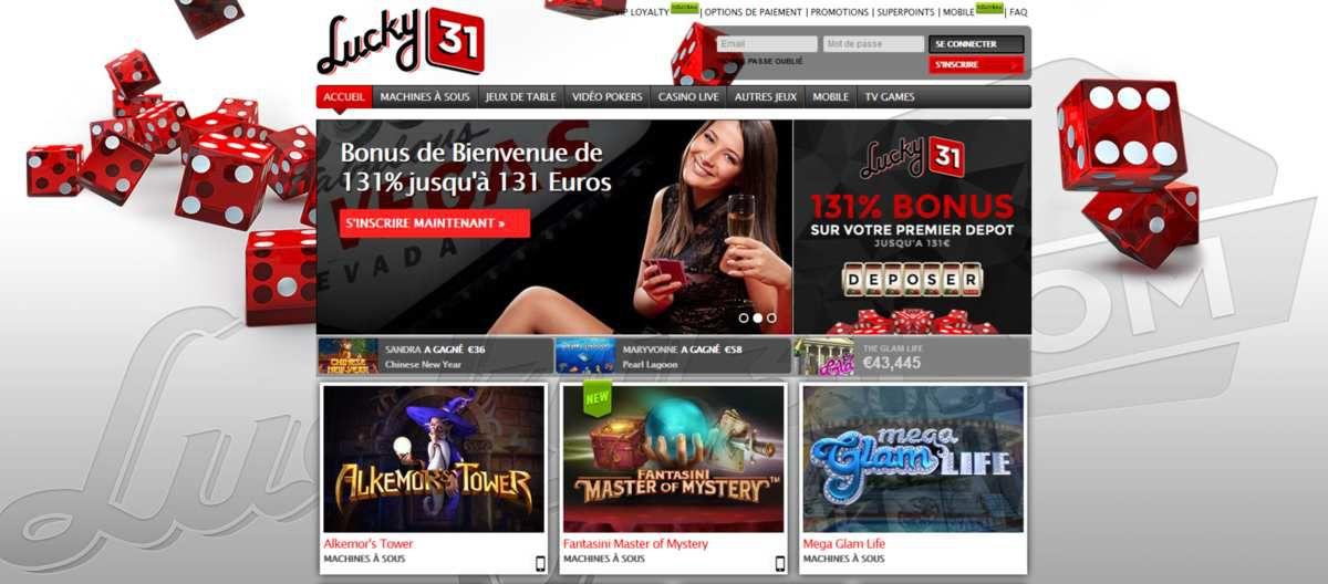 Un avis sans surprise pour le très célèbre Lucky31 casino