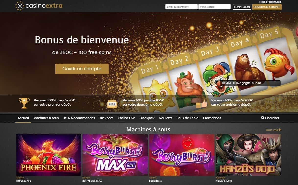 Extra casino : une plateforme extraordinaire ? Notre avis